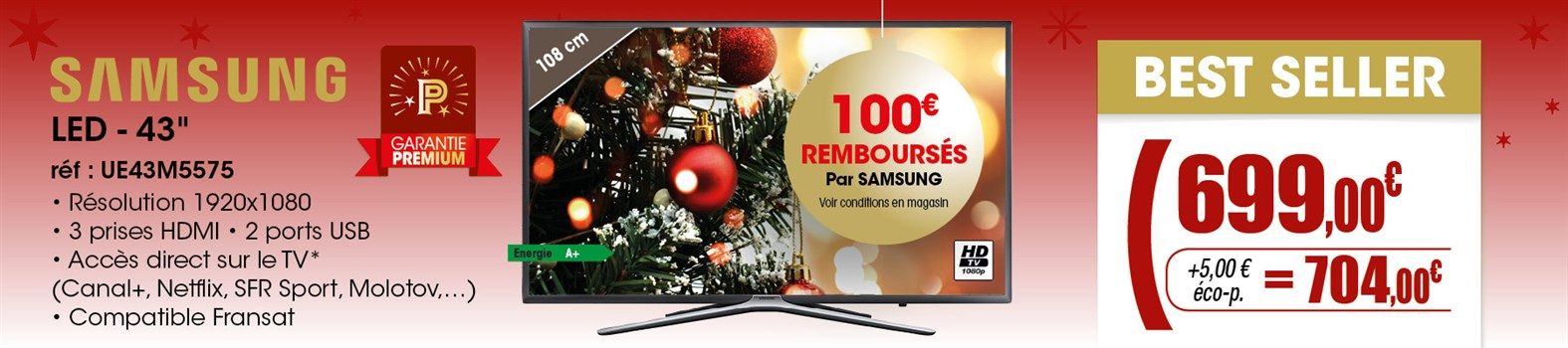 TV LED Samsung UE43M5575AUXXC